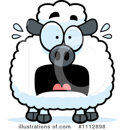 Sheep clipart scared #3