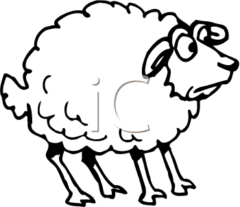 Sheep clipart scared #4
