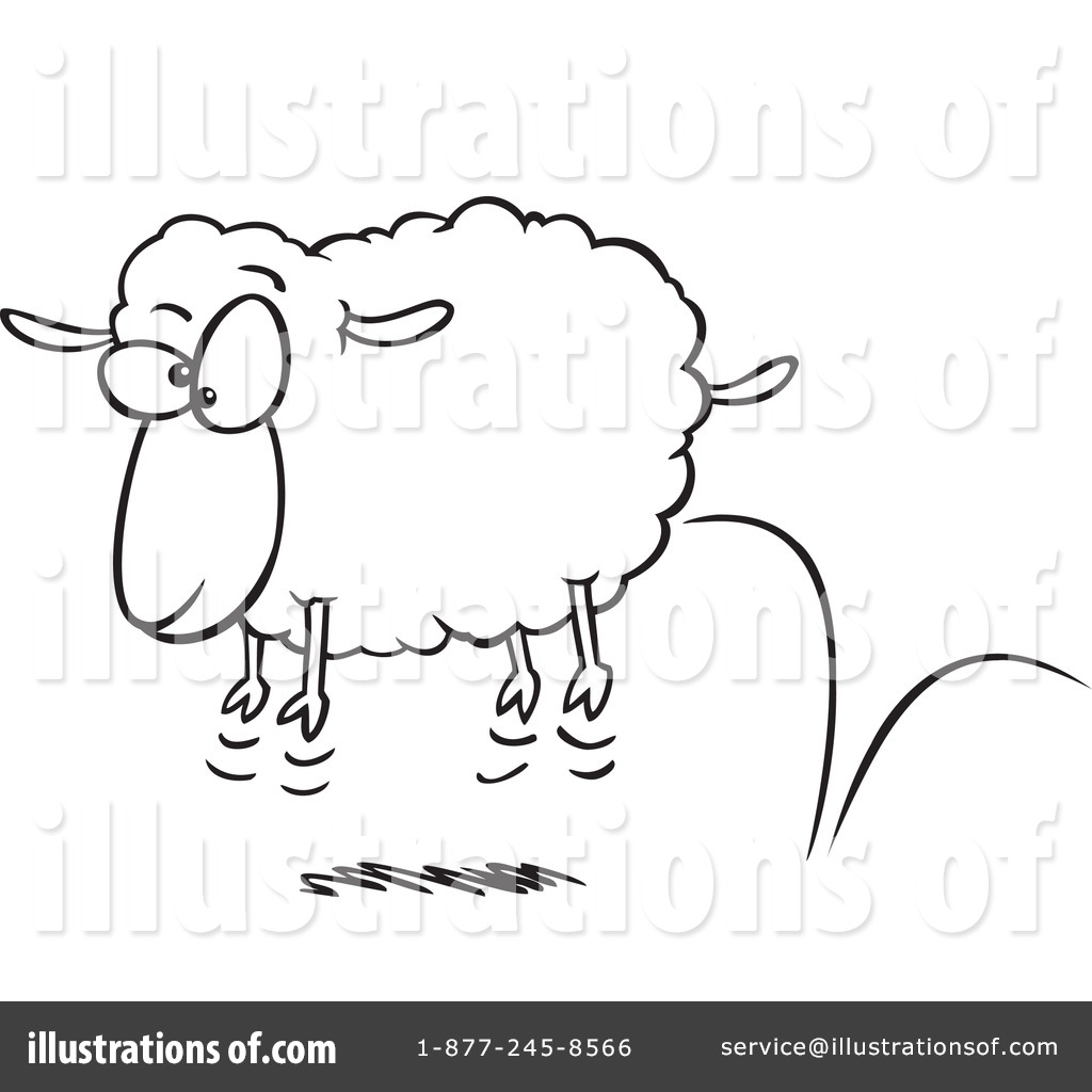Sheep clipart scared #1
