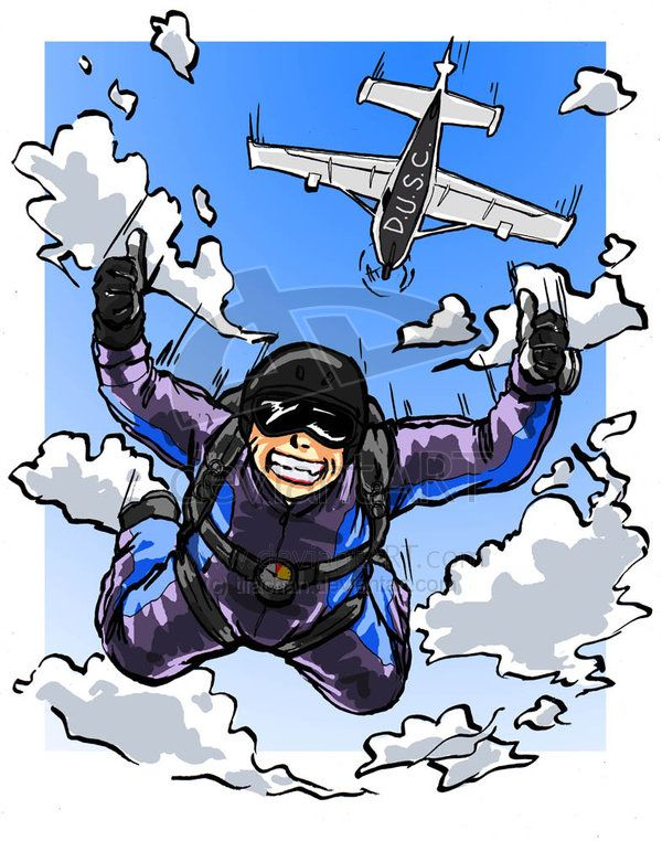 Scary clipart skydiver #5