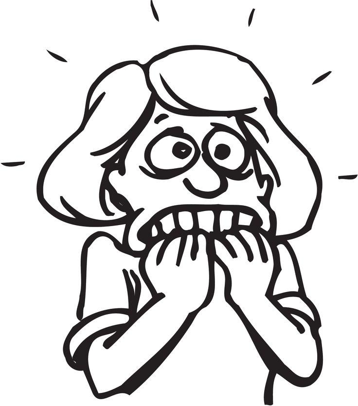 Scary clipart sorry face #5