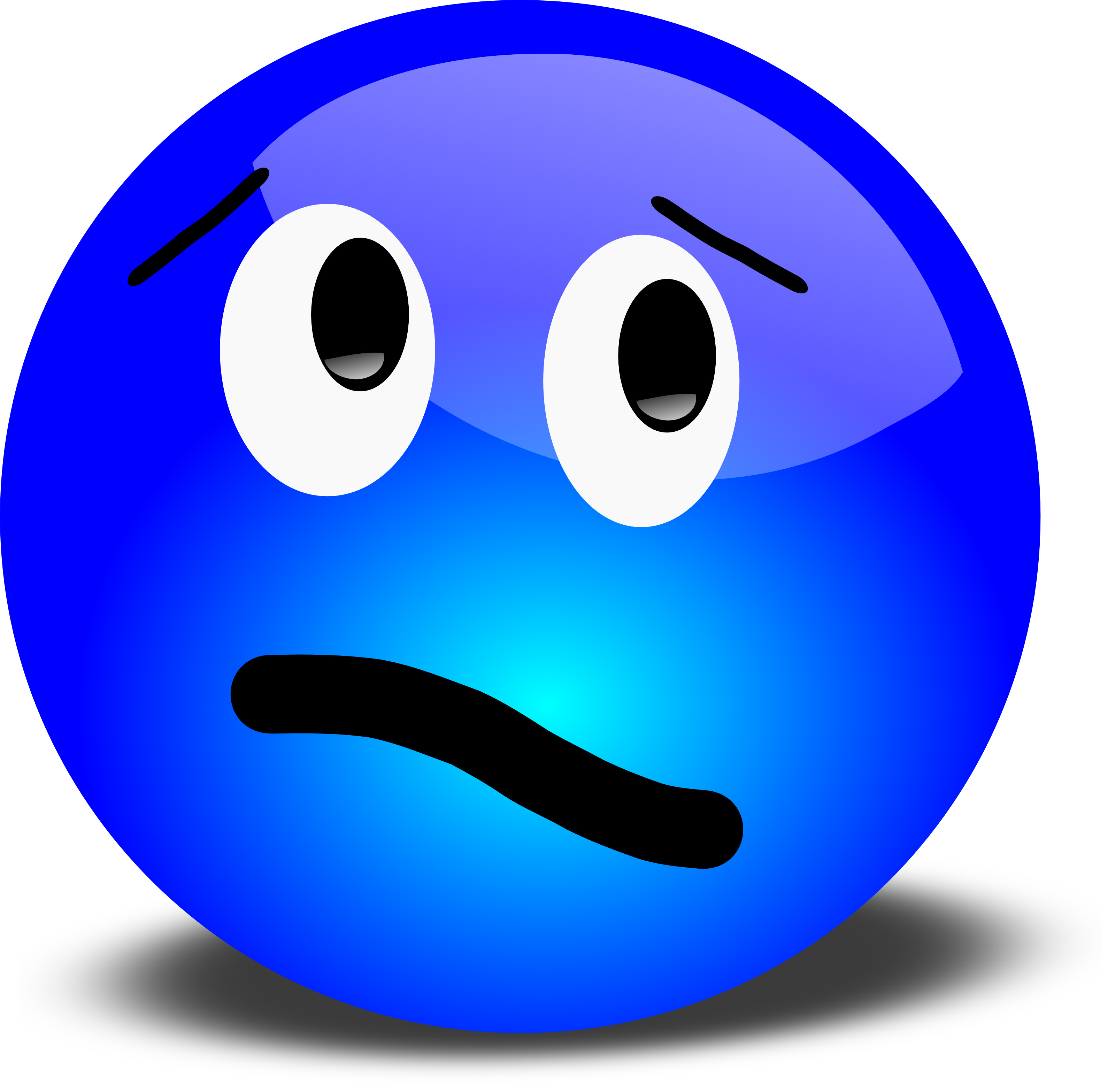 Scary clipart sorry face #4