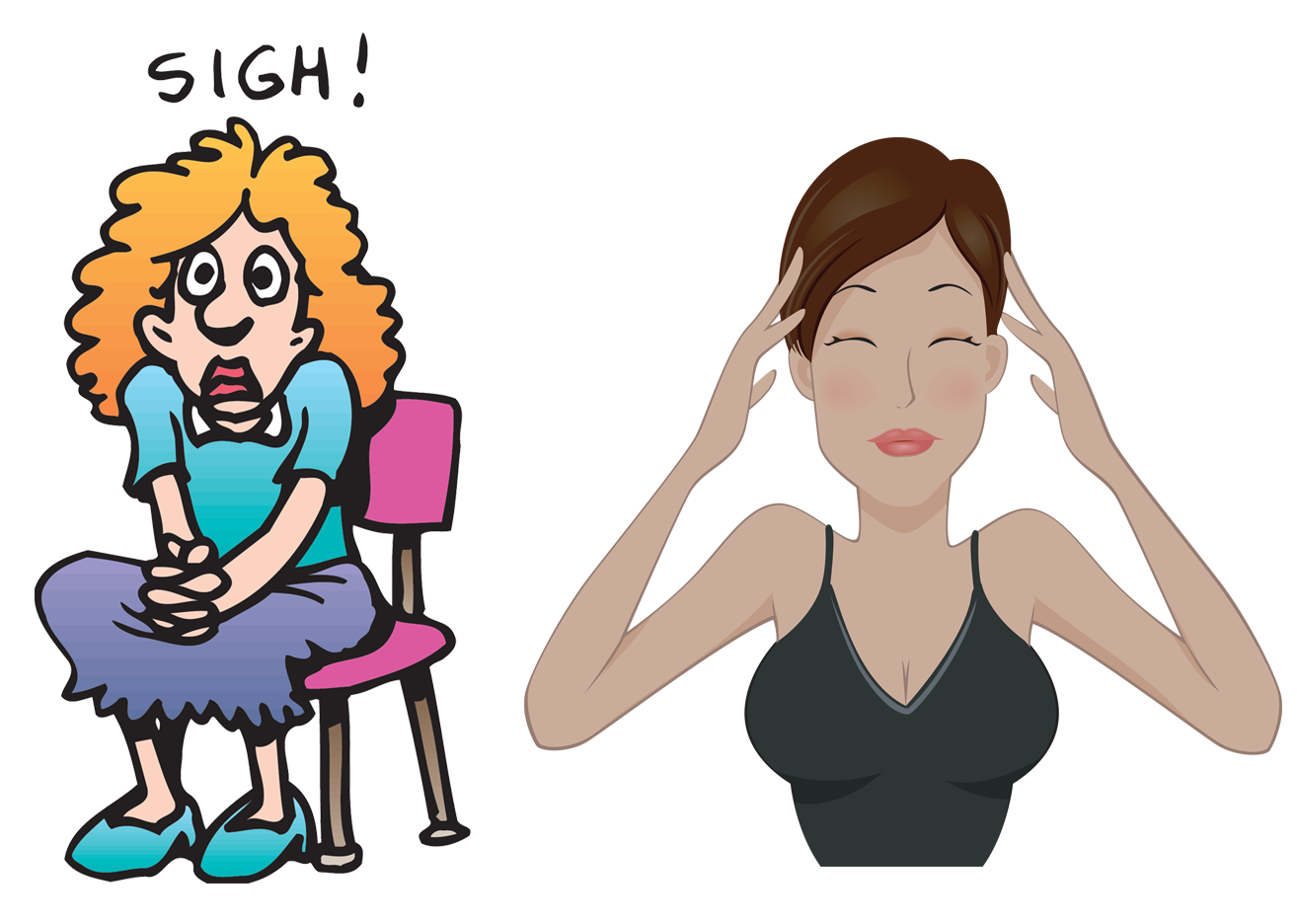 Scary clipart stressed person #7