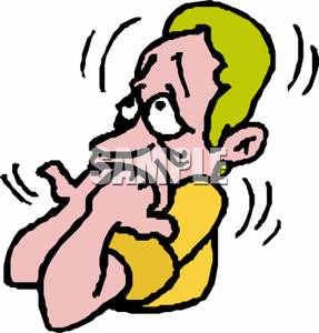 Scary clipart stressed person #9