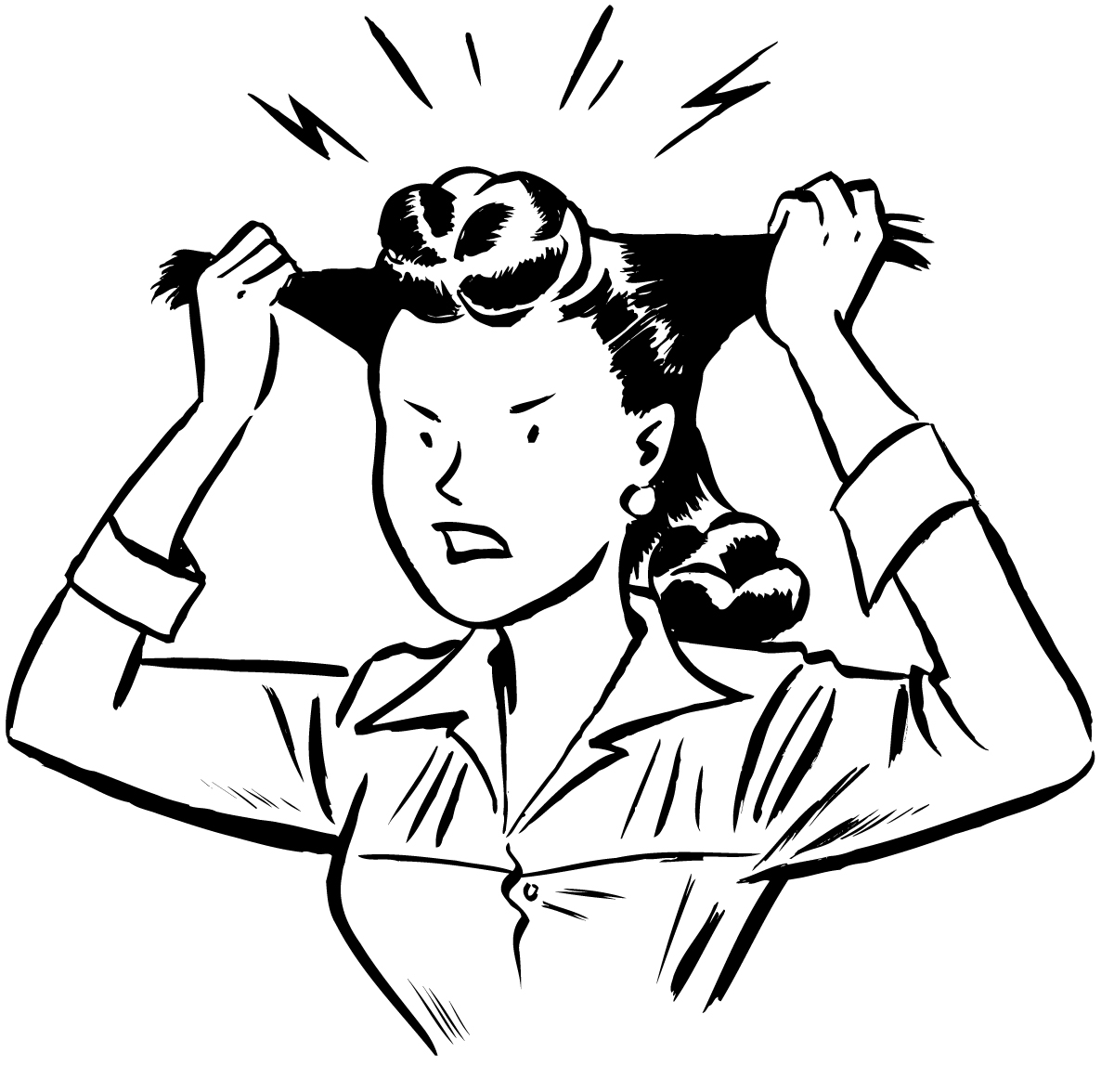 Scary clipart stressed person #5