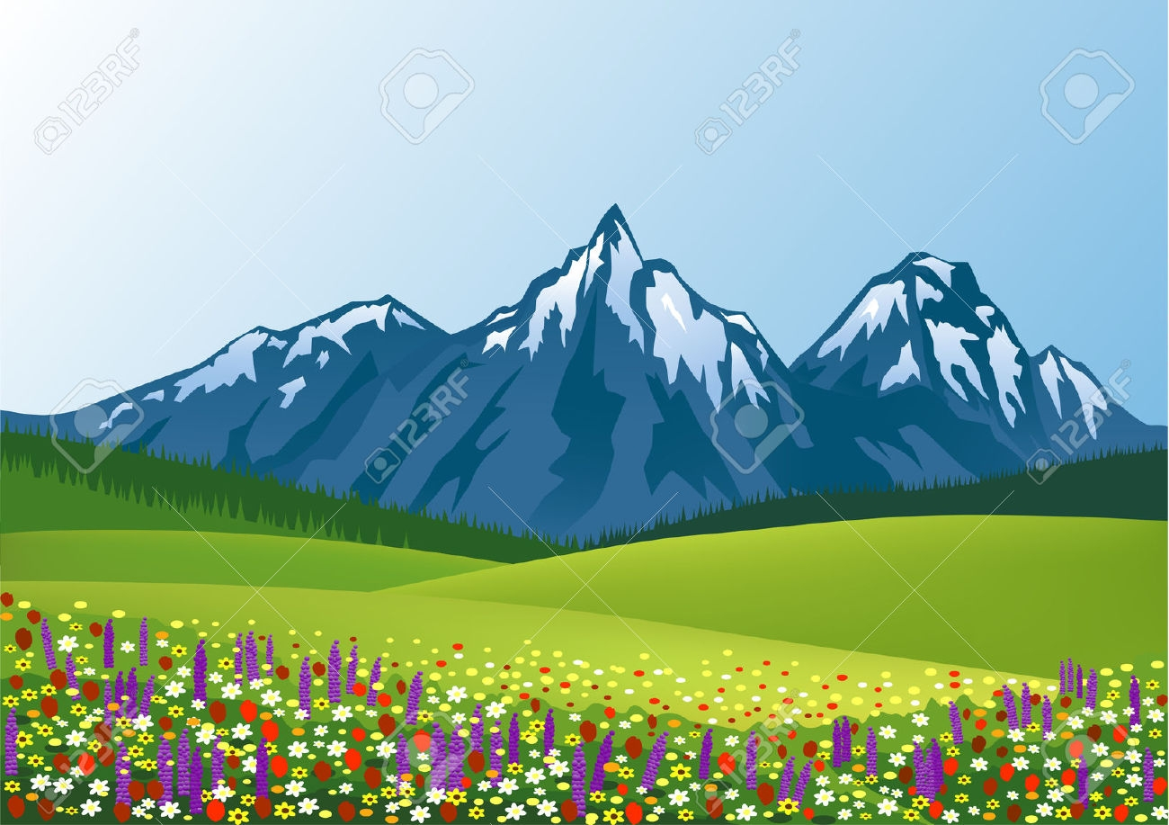 Scenery clipart Mountain scenery clipart Clipground scenery