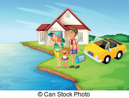 Scenery clipart beautiful house #2