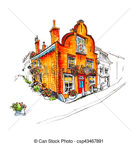 Scenery clipart beautiful house #3