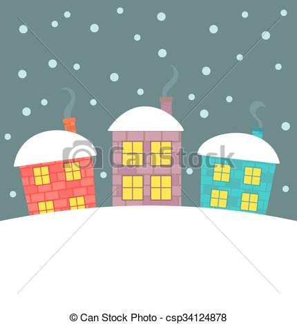 Scenery clipart cute house #10