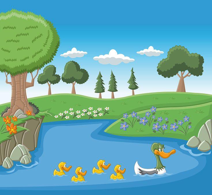 Scenery clipart lake #15