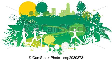 Scenery clipart nature park #4