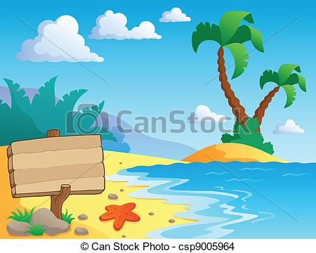 Scenery clipart ocean theme #12