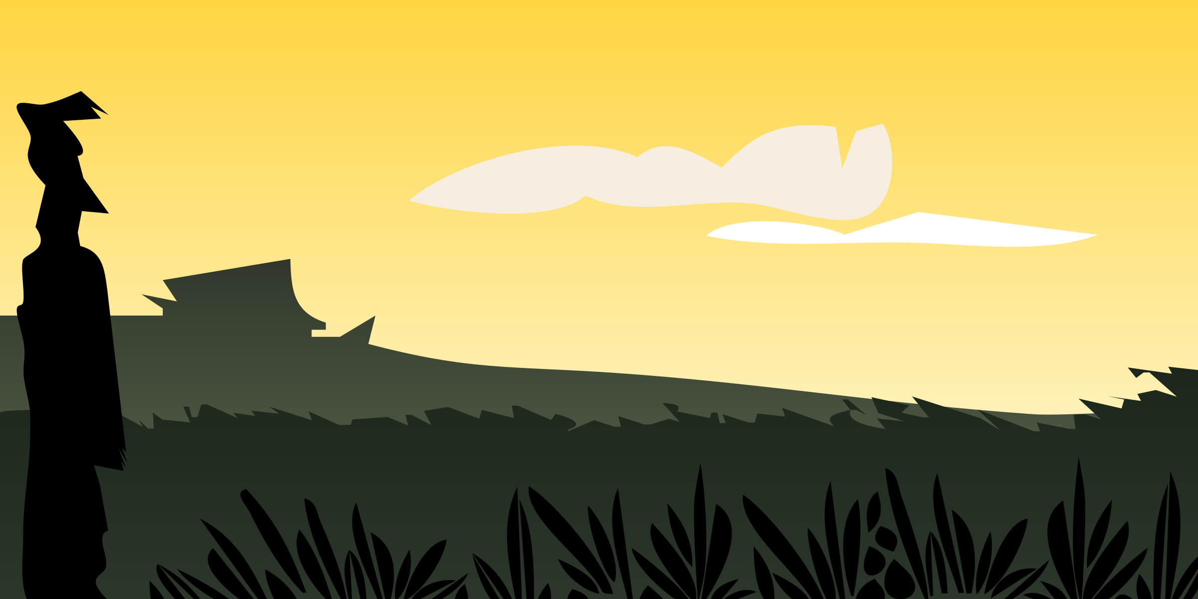Scenery clipart simple #12
