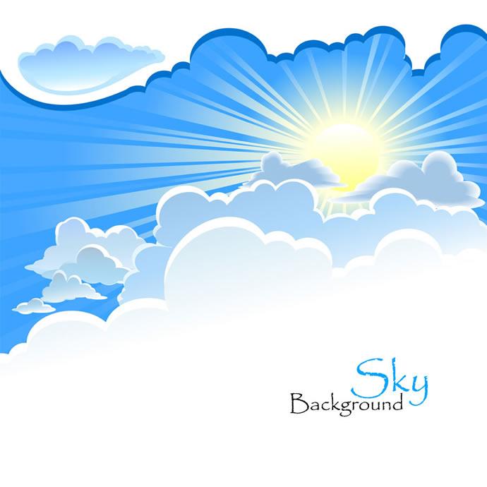 Scenery clipart sun sky #6
