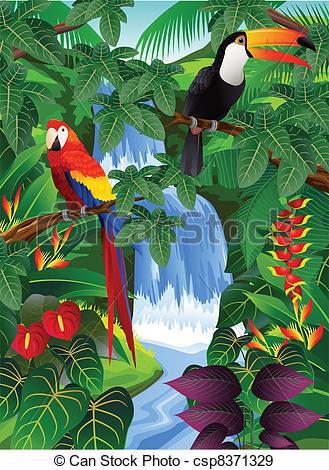 Scenery clipart tropical bird #9