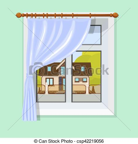 Window clipart hospital Small house and and Vector