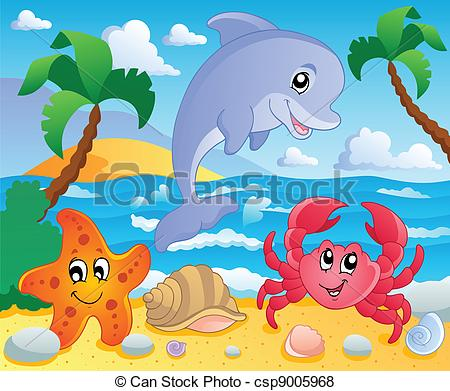Scenery clipart ocean theme #1