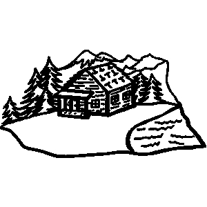 Cabin clipart mountain cabin The vectory woods free cabin