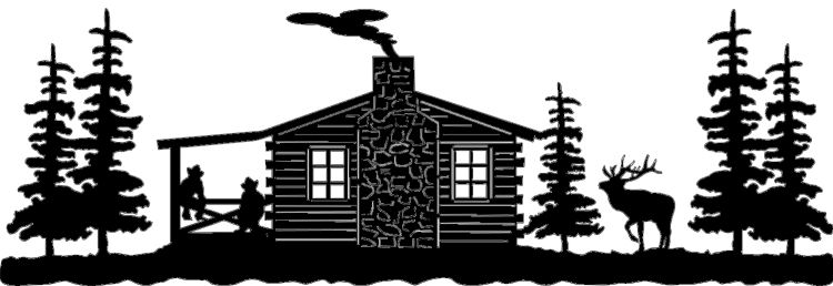 Cabin clipart mountain cabin Clipart ELK CABIN WITH PORCH