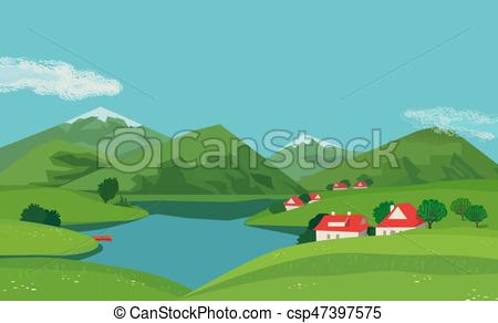 Scenery clipart mountain valley #5