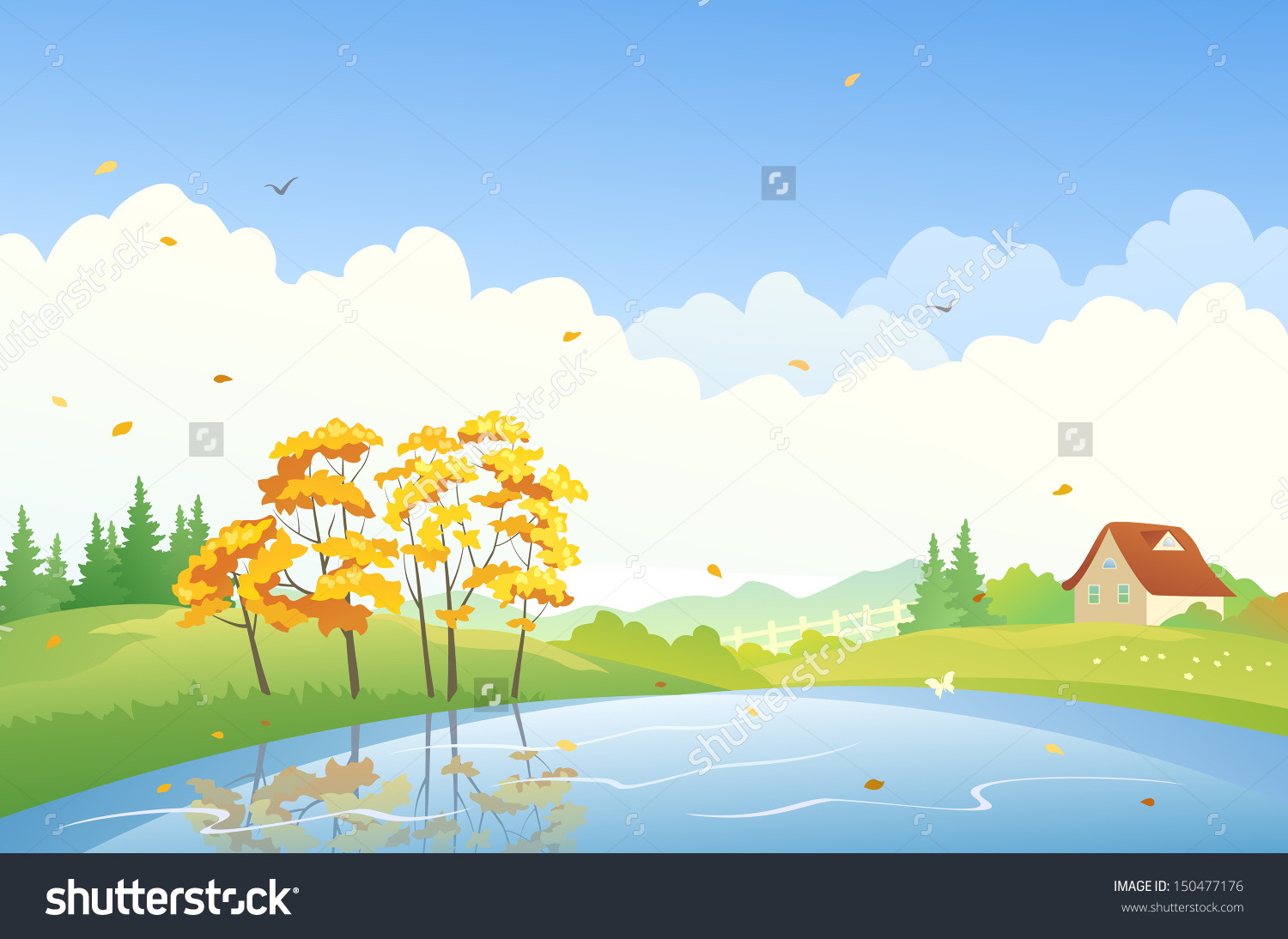 Scenic clipart natural scenery #5