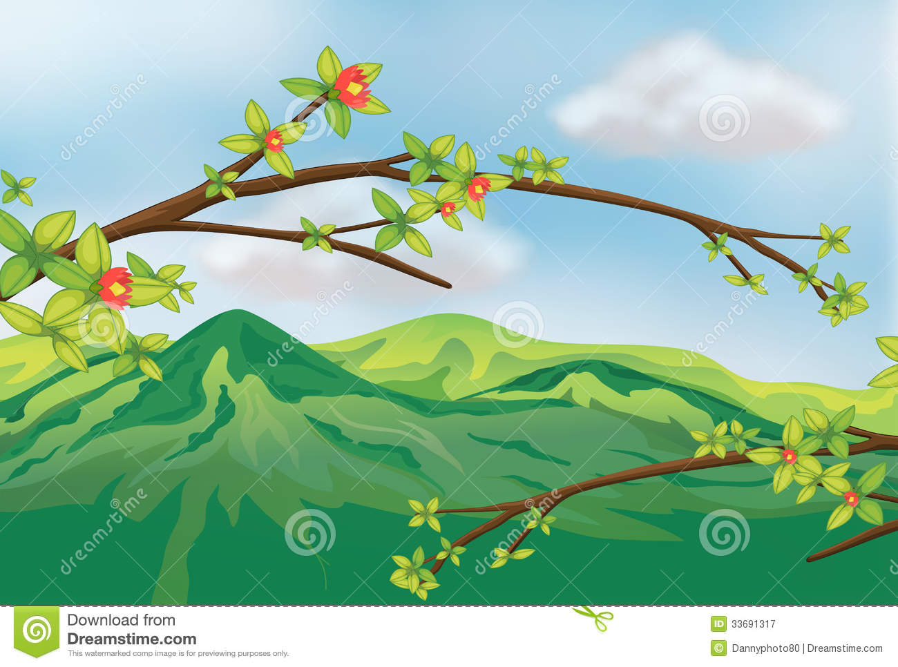 Scenic clipart natural scenery #6