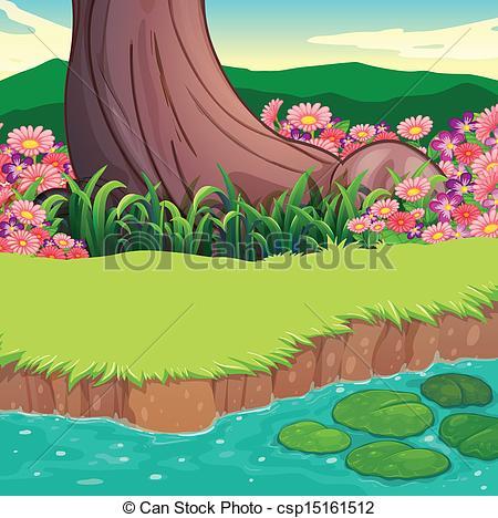 River clipart river bank #4
