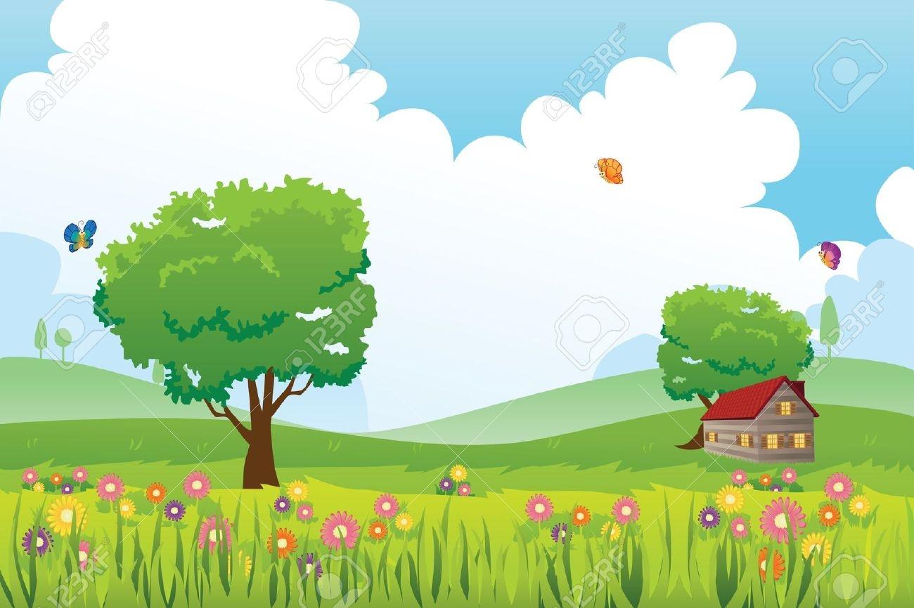 Scenery clipart summer scenery #1
