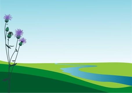 Countyside clipart scenery #6