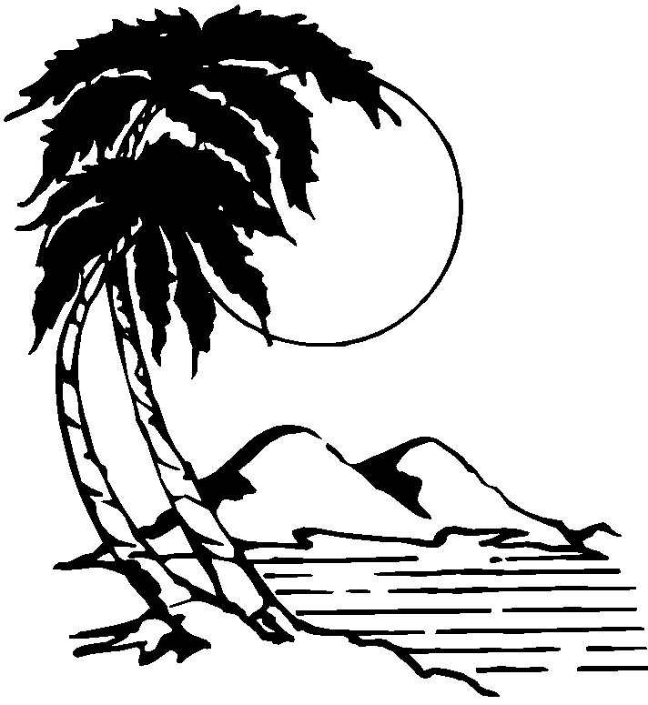 Islet clipart black and white #12