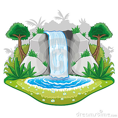 Scenic clipart waterfall #11