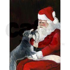 Schnauzer clipart christmas #13