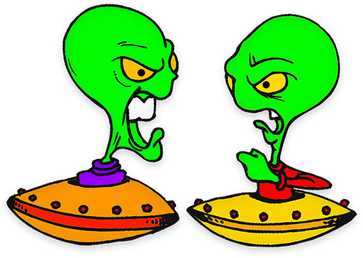 Alien clipart science fiction Rage space aliens Clipart Fiction