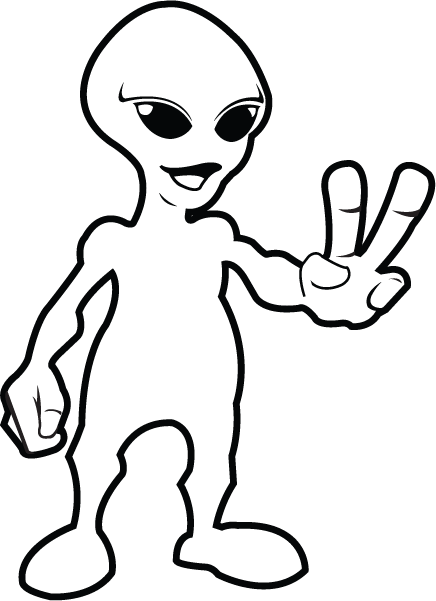 Alien clipart black and white Fi%20clipart sci Clipart Fi Sci