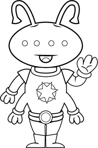 Alien clipart black and white And black Outer eyes