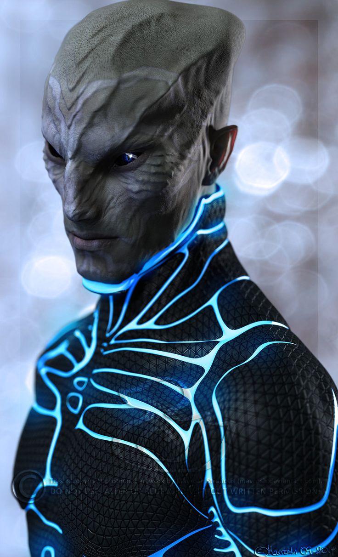 Sci Fi clipart blue alien #7
