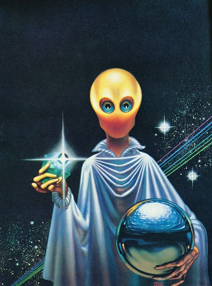 Sci Fi clipart blue alien #9
