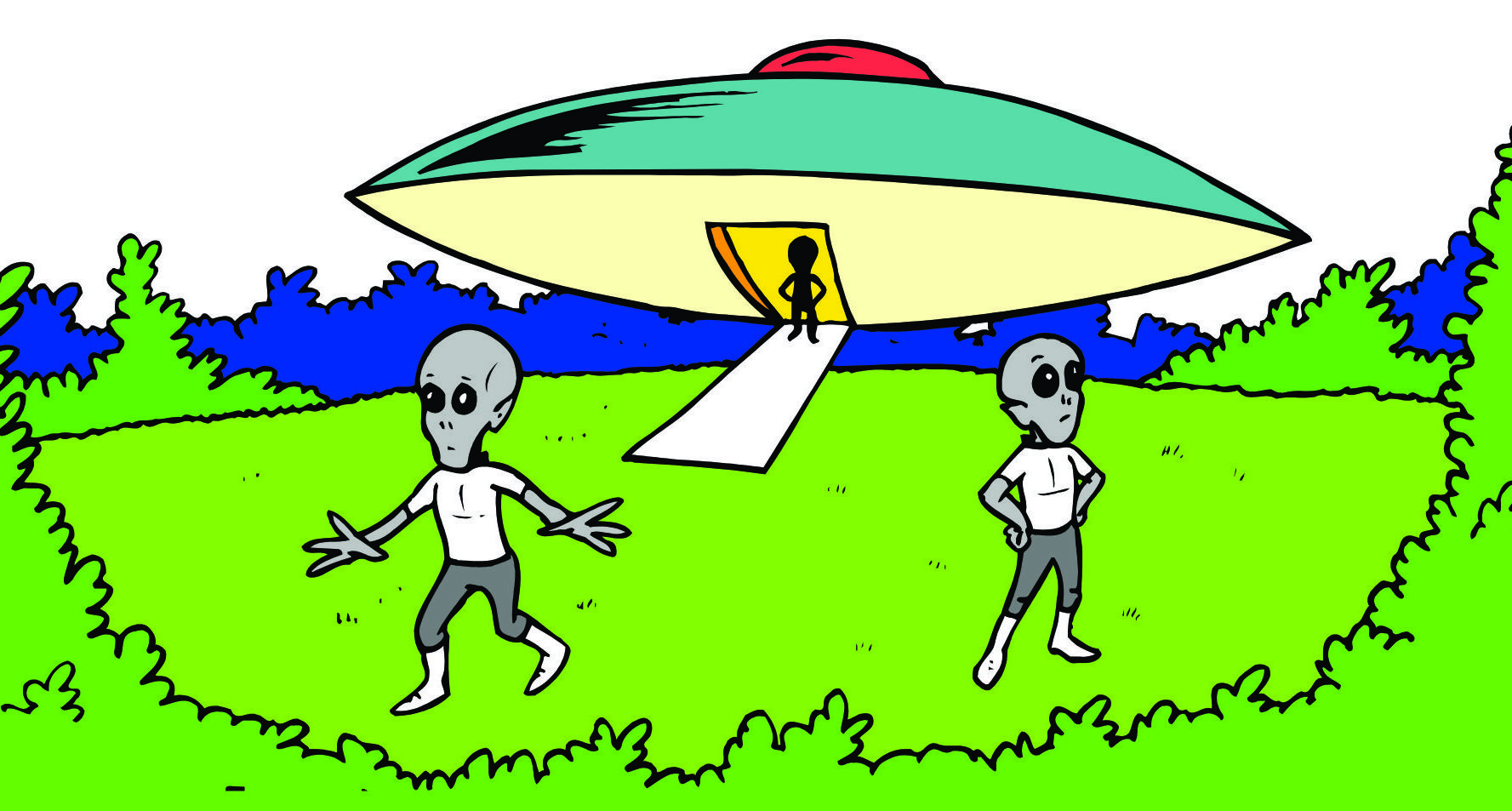 Sci Fi clipart cute alien spaceship #11