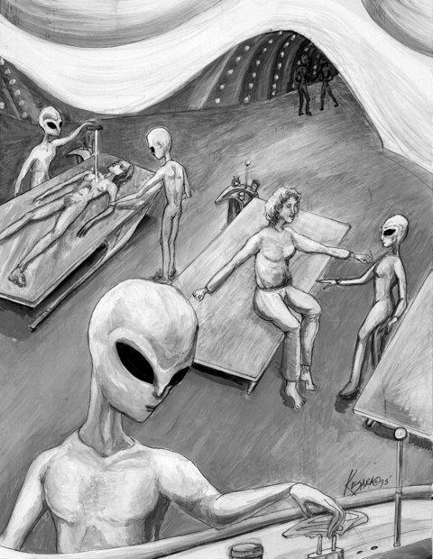 Sci Fi clipart grey alien #4