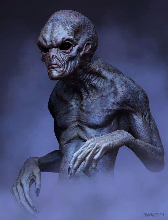Sci Fi clipart grey alien #11