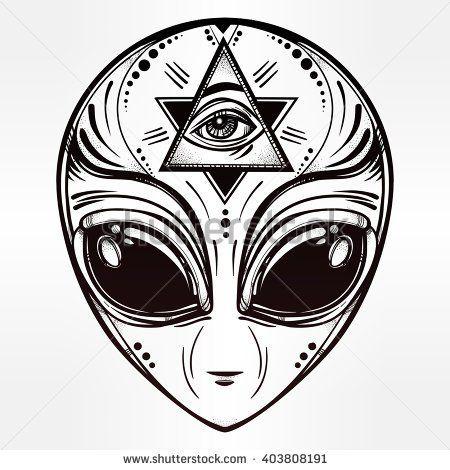 Sci Fi clipart grey alien #7