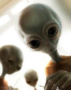 Sci Fi clipart grey alien #12