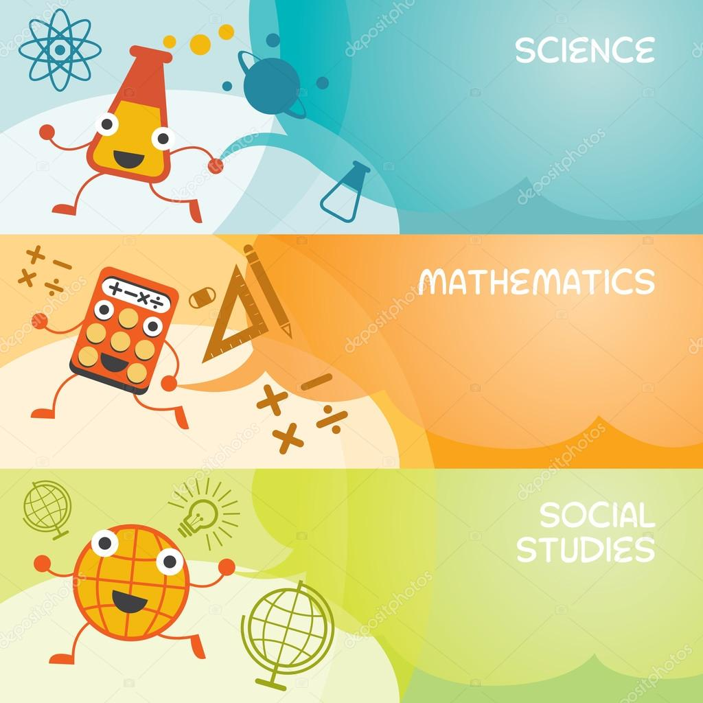 Science clipart banner Vector Characters Science Social Social