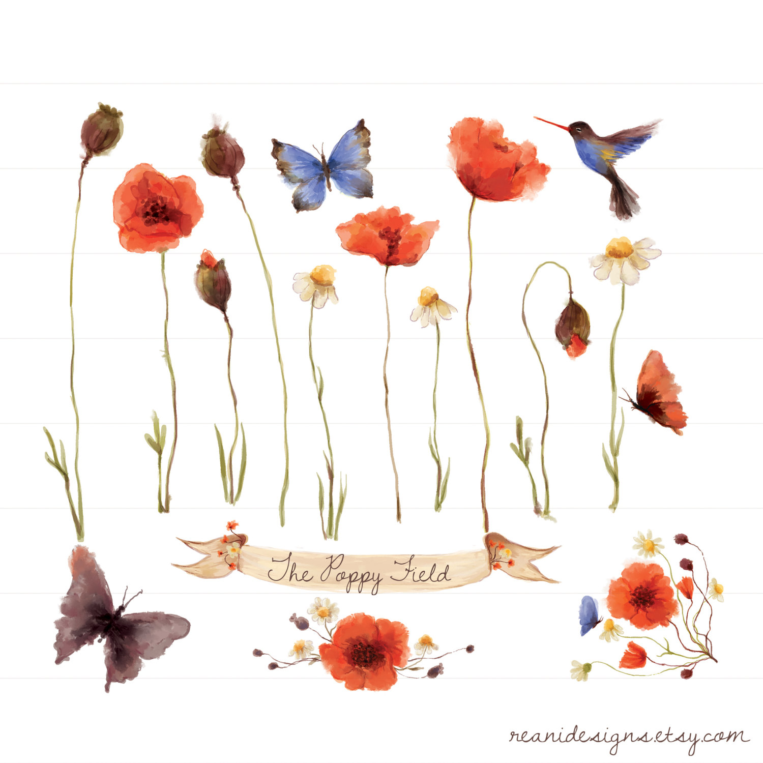 Science clipart banner Clipart this Flower Art Humming