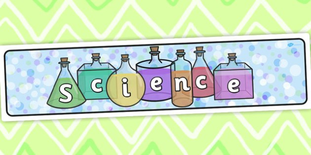 Science clipart banner On On display science chemistry