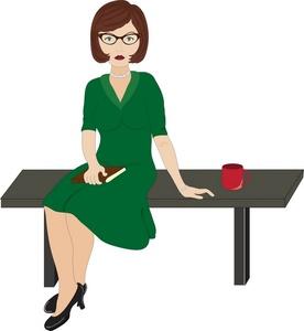 Desk clipart female teacher Clipart Images Free Female Clipart