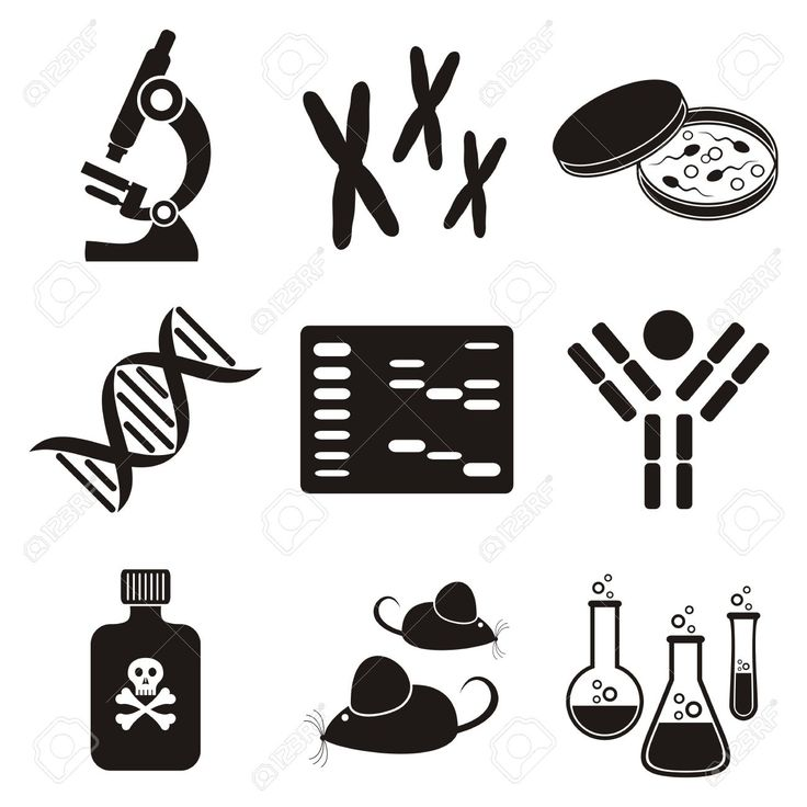 Science clipart gene Scootero black set Pinterest best