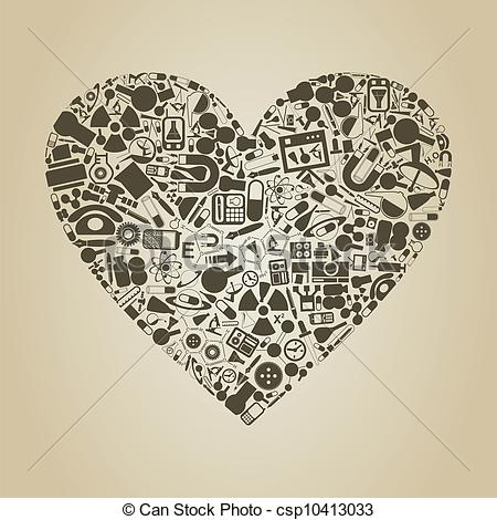 Science clipart heart #15