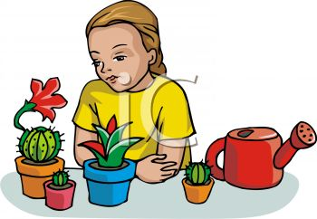Science clipart kid plant #10