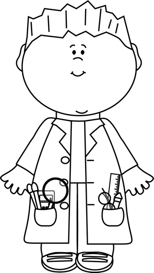 Scientist clipart black and white Black and Scientist White Boy